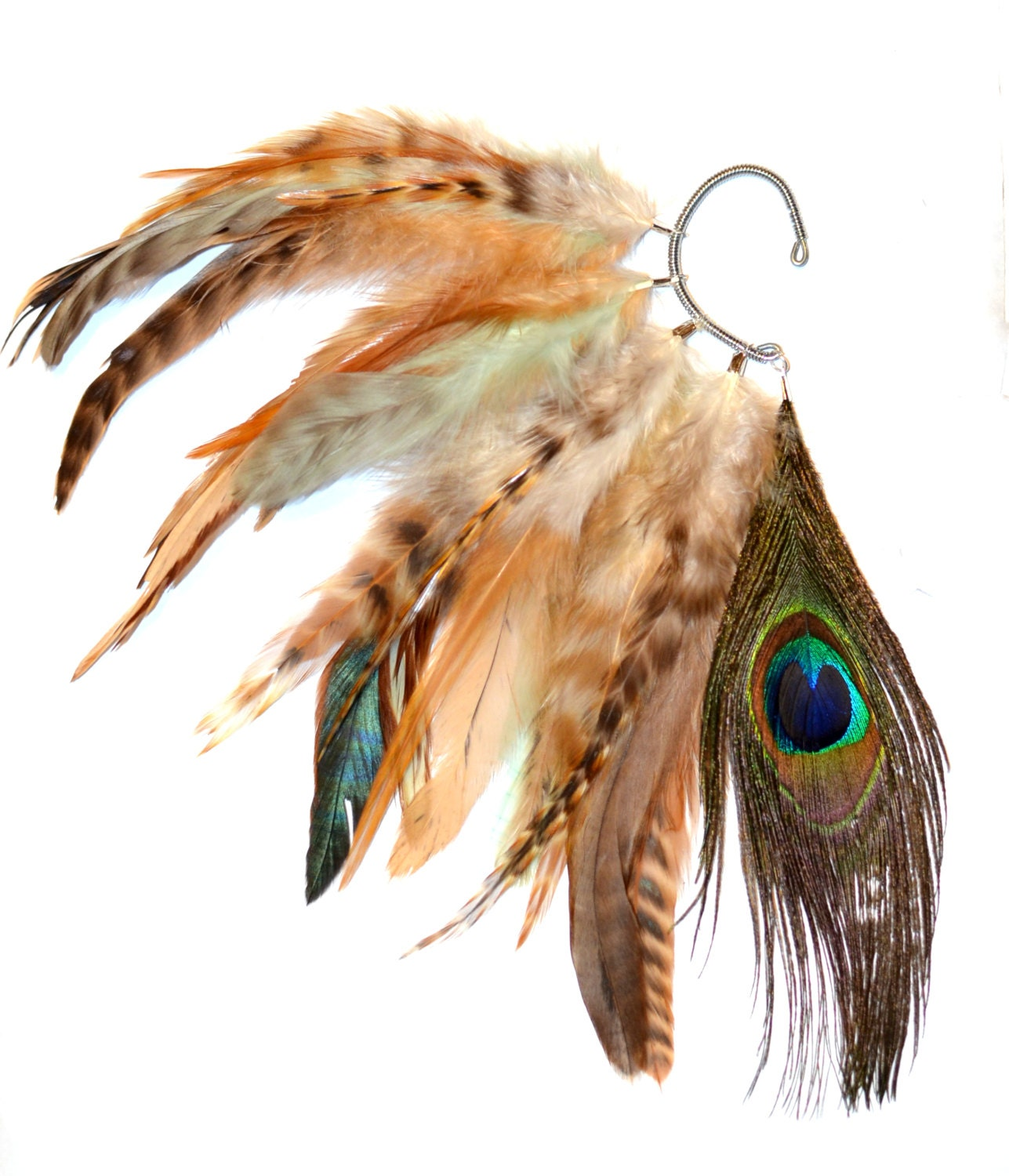 how to make feather ear cuffs