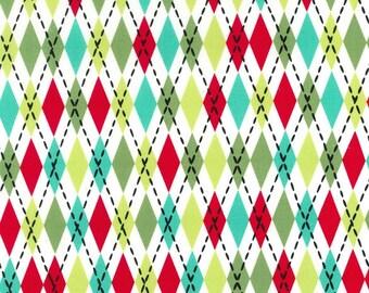Fat Quarter Christmas Fabric for quilt or craft Michael Miller Socks in Santa Fat Quarter