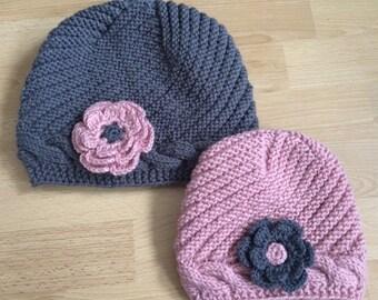Mother Daughter Beanie Hat Set