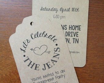 Wedding Favor Tags Personalized with Custom Design for Your Special Day -  150 Brown Tags
