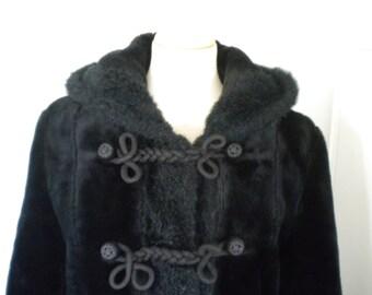 Hooded prinsess coat Faux fur Vintage