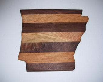State of Arkansas cutting board - made of walnut and oak