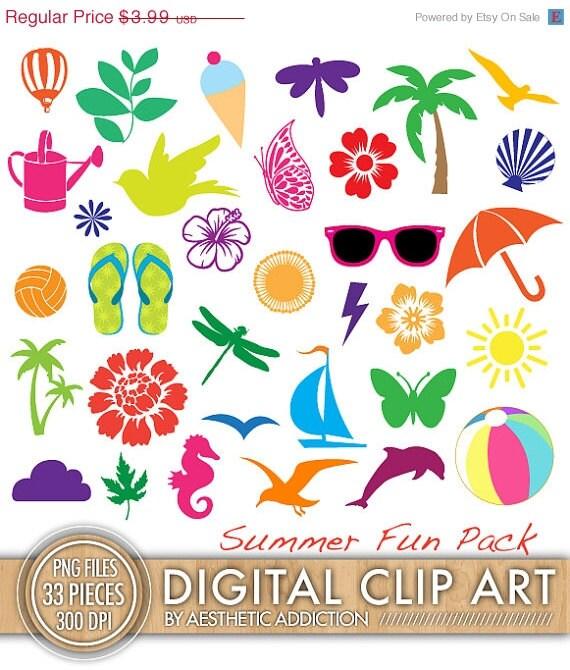 75% OFF Summer and Beach Themed Clip Art by aestheticaddiction