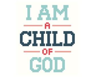 PATTERN | Child of God | Modern cross stitch