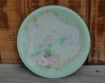 Beautiful RARE and ROMANTIC Vintage Antique Limoges Signed Pope Plate