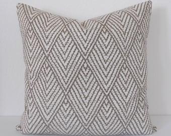 Both sides, Tan chevron diamond decorative pillow cover