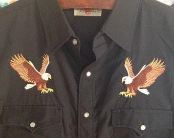 Vintage Men's Eagle Western Shirt