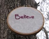Believe Embroidery in Hoop