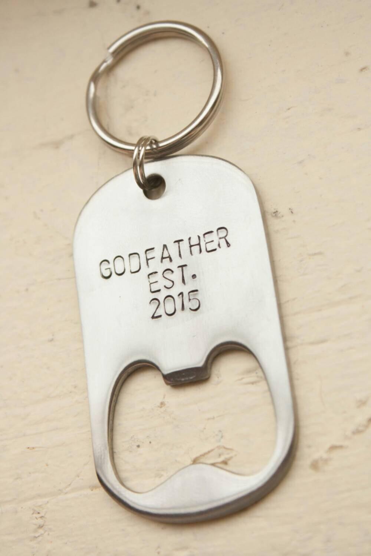 godfather est hand stamped bottle opener by lovemorethananything. Black Bedroom Furniture Sets. Home Design Ideas