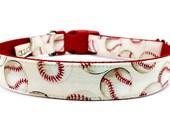 Baseball Dog Collar for Any Team - Play Ball