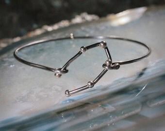 GEMINI Sterling Silver bracelet - Oxidized jewelry, personalized jewelry, Xmas gift, BFF jewelry, Constellation Serie