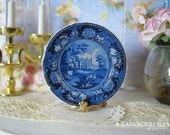Blue Clews Wells Dollhouse Plate