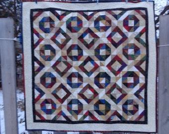 Scrappy Lap Quilt, Rendevous Quilt, Patchwork Quilt 1229-03