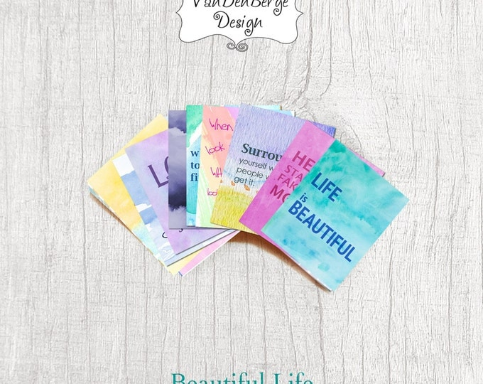 Planner Calendar Stickers- Beautiful Life- Set of 25