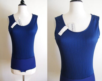 Vintage 1960s 70s Bodysuit Leotard Munsingwear Hollywood Vassarette NOS w/ Original Tags Small