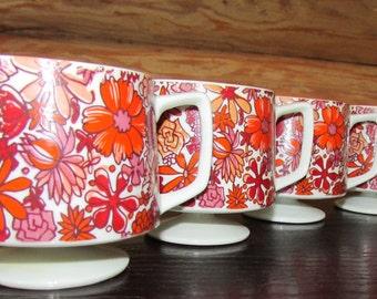 Vintage Hort Howard Floral Mugs