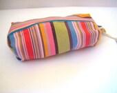Pencil bag, Zippered Pencil Pouch, Colourful Striped Kikoy Pencil Bag, Pen Bag