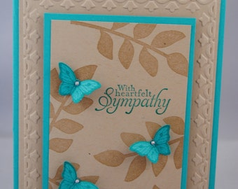 Handcrafted Thinking of You, Sympathy Card