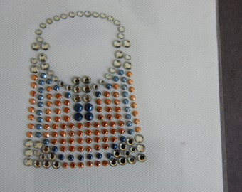 Orange Nailhead Purse Heat Transfer