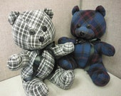 """Memory Bear made from your T shirt or clothing, """"Chalie Bear"""""""