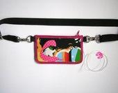 Diabetes Pump Case Insulin pump pouch Reversible 2in1 Case Diabetes Pack Zipper Belt Pump Cover medicine wallet with adjustable strap