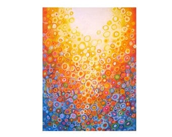 Orange and Blue - Giclee Print on Stretched/Unstretched  Canvas, Paper print