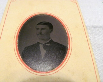 Vintage Tin Type Photo -Handsome Young Man