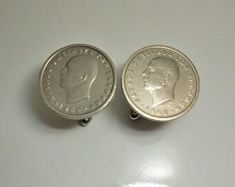 Greece  King Paul Coin Cuff Links 1962