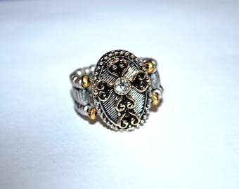 Cross Statement Ring Large Size Stretch Ring