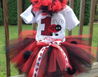 Ladybug birthday outfit Pick your number 1-9