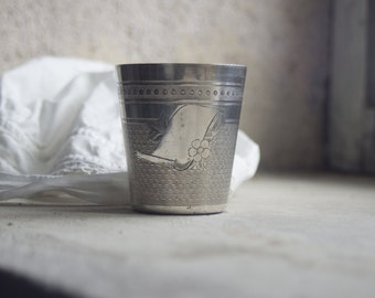 French Silverplate Christening Cup