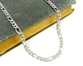 Men's 5mm Stainless Steel Figaro Chain Jewelry for Him
