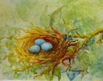 Robin's Nest Note Cards