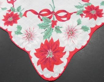Holiday Hankie, Handkerchief, Vintage Handkerchiefs, Ladies Hankies, Hankerchief, Holiday Print, 1970s, PROVENANCE, Liz, All Vintage Hankies