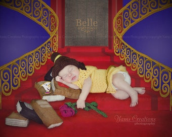 Belle wig for Newborn, Beauty and the Beast