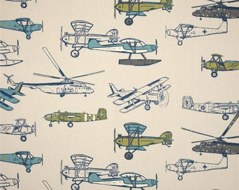 Nursing Pillow Cover - Vintage Airplane in Felix and Minky Boppy Cover - Green, Navy, Airplanes, Aviation