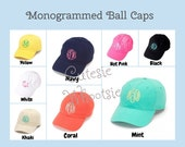 Monogrammed Baseball Cap Hat Bridesmaid Gift Teacher Gift Sorority Gift