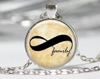 Family Sayings Necklace Inspirational Jewelry Family Infinity Jewelry