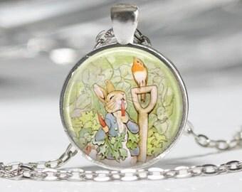Peter Rabbit Jewerly Wearable Art Peter Rabbit Necklace