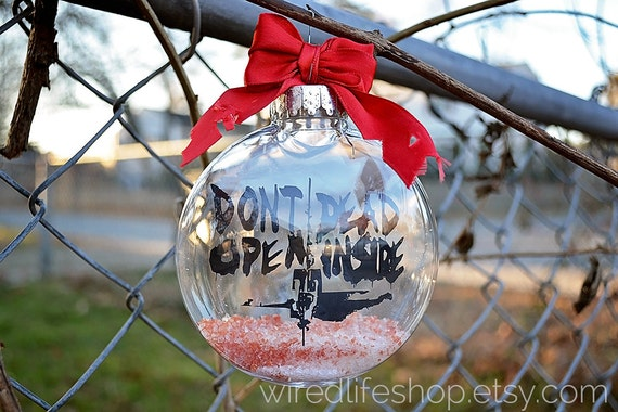 The Walking Dead: Don't Open, Dead Inside Inspired | Christmas Tree Ornament