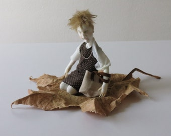Lady on leaf