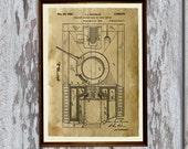 Tank patent print Army poster Military art decor  AKP23