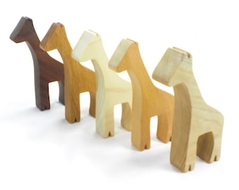 Wooden Giraffe Toy Animal Party Favor, wood toy party favor, kids party favor, kids wooden toys, wooden animal toy