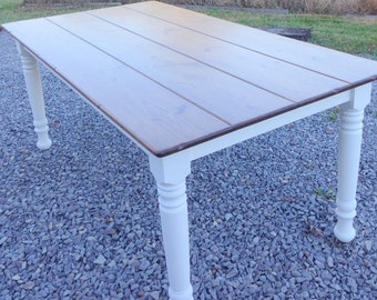 Rustic Farm Table, Custom 6 Foot Farm Table