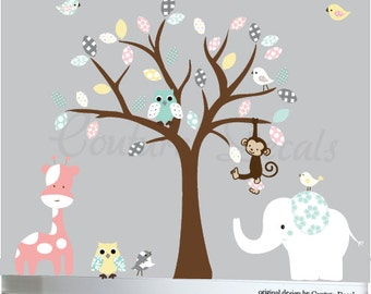 Nursery Wall Decal, Wall Decals Nursery, Tree Wall Decal, Girl Wall Decal Tree, Nursery Tree Decals