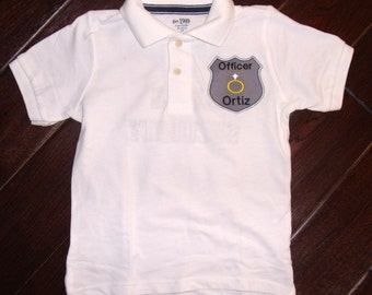 Boutique Ring or Bling Security Wedding Polo Shirt with name.  Sizes 12M to 14 Youth Short Sleeves