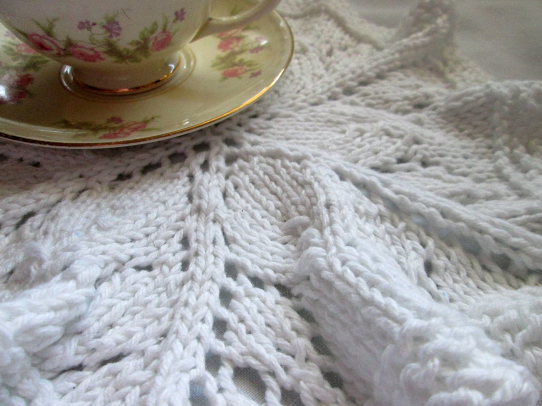 Round Dishcloth Knit Pattern Knit Doily Pattern Lace