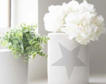 Simple Star Stencil from The Stencil Studio. Reusable home decor & DIY stencils, simple to use. Choose size. 10380