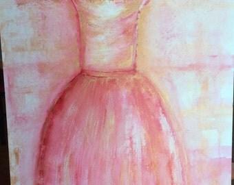 Pink/gold dress!
