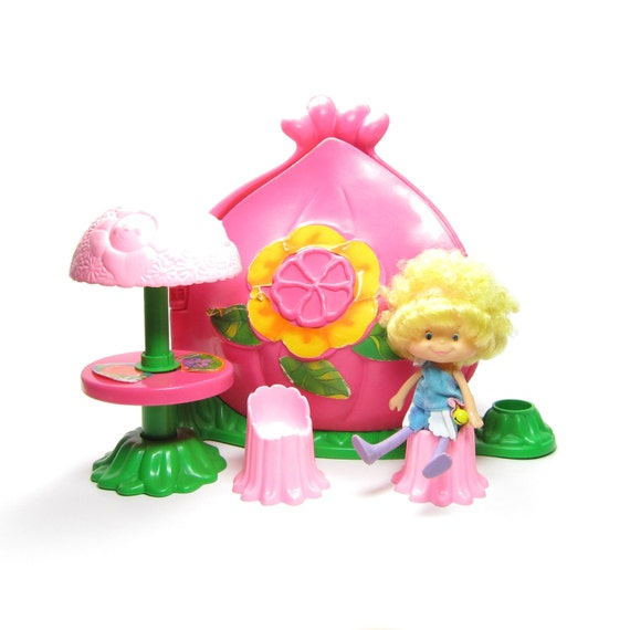 Flower House Herself The Elf Toy Vintage 1980's Play Set